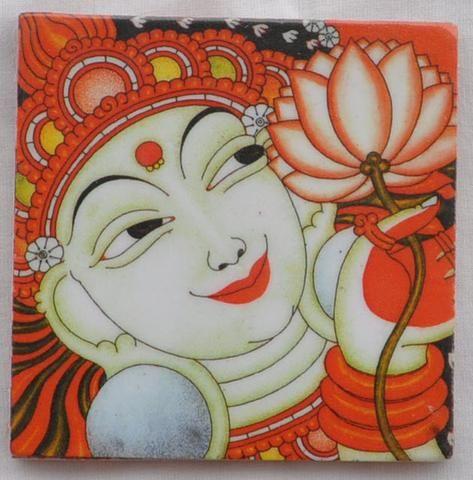 Kerala Mural Printed Magnets- Vishnu