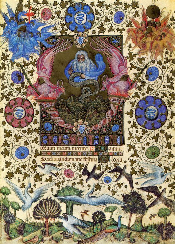 Giovannino de Grassi,  Visconti Hours c. 1390, - c. 1430 Manuscript (Landau Finaly 22), Biblioteca Nazionale Centrale, Florence