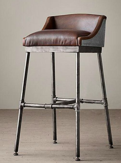 Industrial furniture American retro to do the old wrought iron bar chairs chair loft hose connector bar stool high chair                                                                                                                                                     More
