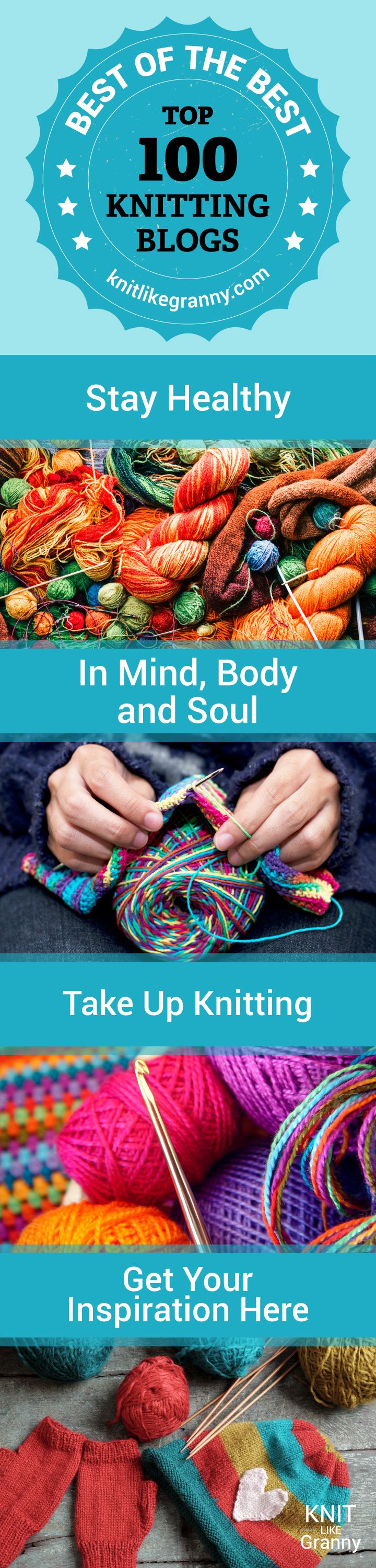 Stay healthy in mind, body and spirit and take up knitting. Find inspiration from our featured knitting bloggers. Knitting helps you to relax, be mindful as it keeps you in the present. It can lower blood pressure and the levels of cortisol in your brain that induces stress. Knitting is so rewarding not only for your health but your self esteem too!#knitting #knit #healthyliving