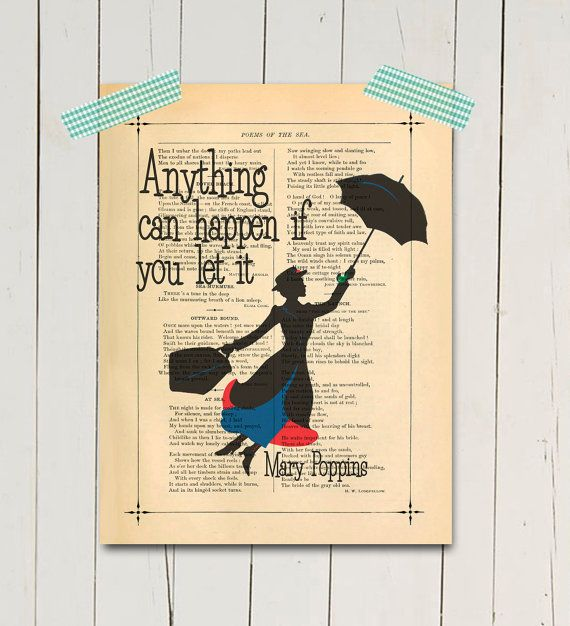 I need this! Now, who wants to buy it for me? :) Mary poppins art print Inspirational poster print by eebookprints, $11.99