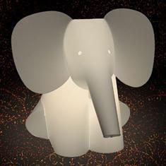 Zoolight Elefant Barne Bordlampe
