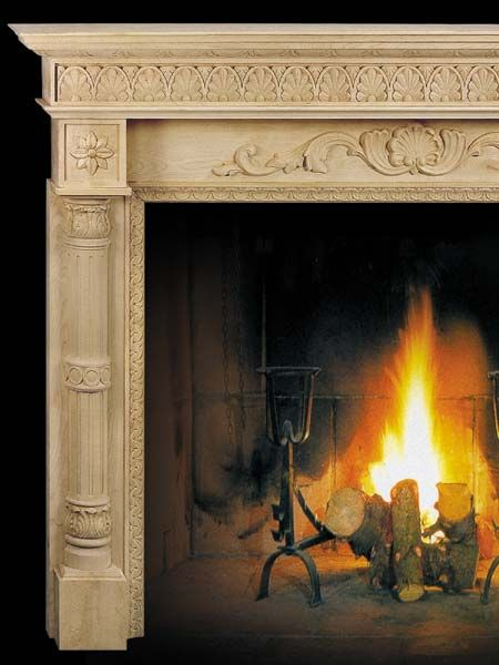 Delaware wooden fireplace mantels carved in maple wood - beautiful carved wood columns! - - #fireplace #fireplaces #fireplacemantels