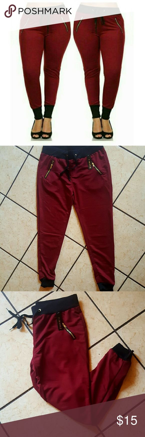 Fitted joggers XL Very cute comfy  perfect fitting ladies must have New Never Been Used Pants Track Pants & Joggers