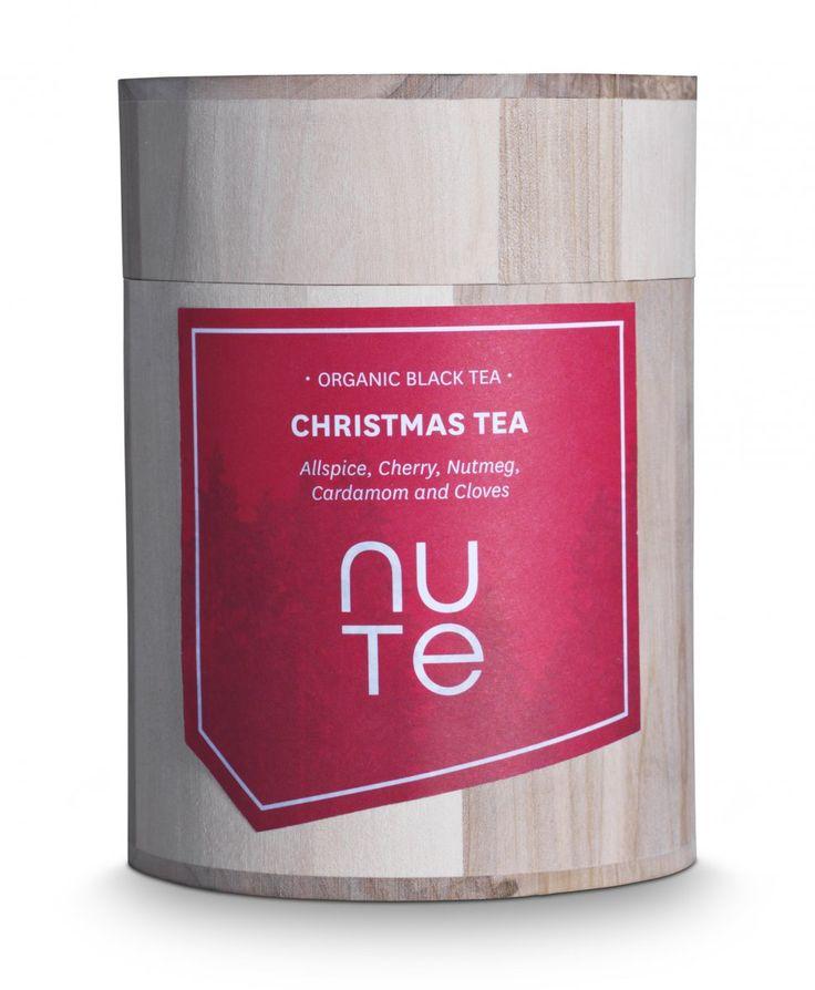 NUTE Christmas tea : Allspice, Cherry, Nutmeg, Cardamom and Cloves - organic black tea