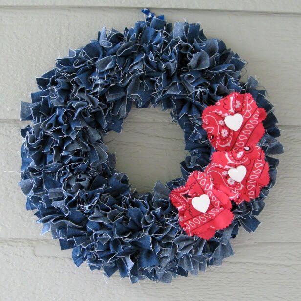 Yea! Jeans wreath.