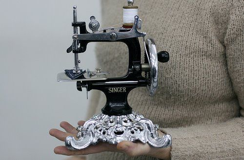 Antique small sewing machine.