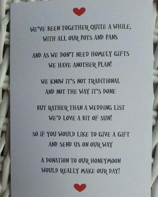 Nontraditional Honeymoon Help Instead Of Wedding Gifts