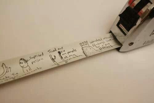 Spray paint tape measure with white acrylic paint, then label kids heights and ages with a permanent marker. Doesn't take up space and you can use it no matter where you live!