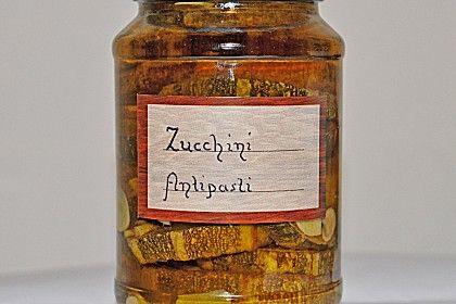 Eingekochte Zucchini Antipasti