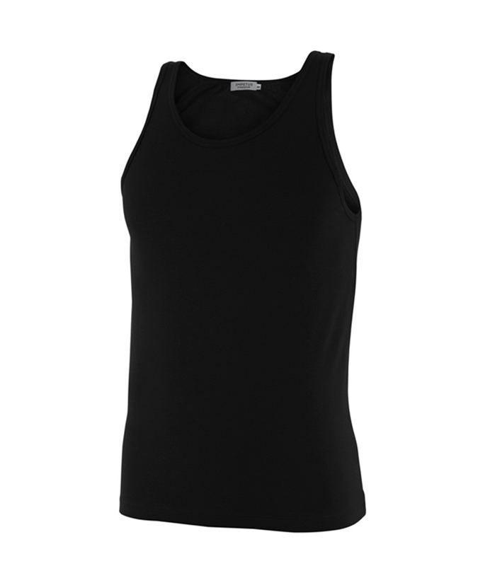 Camiseta impetus luxury tirantes negra. Nueva línea de tejido en Algodón Mercerizado, Hilo de Escocia. Suave y resistente. REF: 3004B32 020.