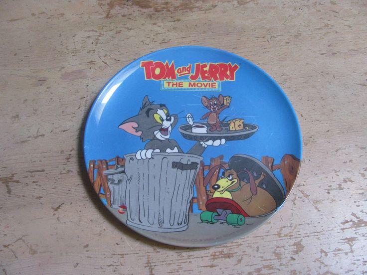 Vintage Zak Design Tom and Jerry Plate - The Movie by EastsideVintageFlea on Etsy