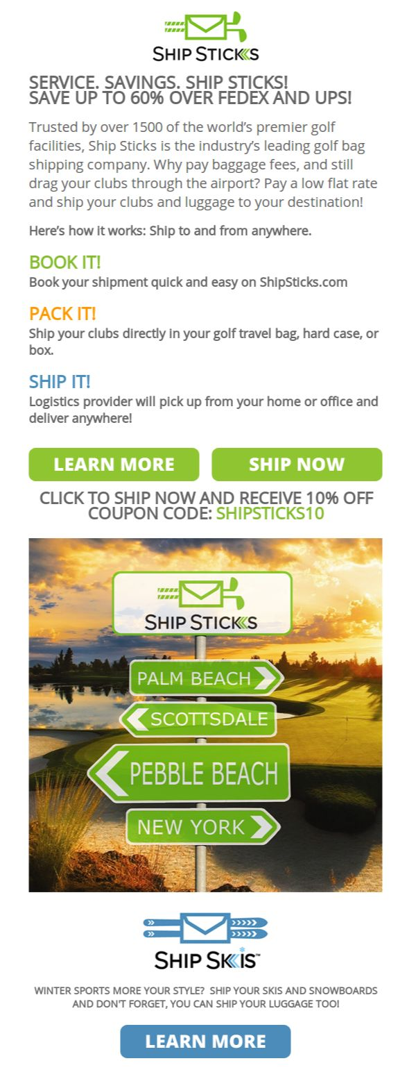 10 best golf images on pinterest golf courses email marketing and who couldnt use an easier way to ship their sticks check out this fandeluxe Image collections