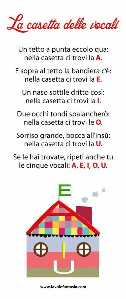 Filastrocca: La casetta delle vocali.