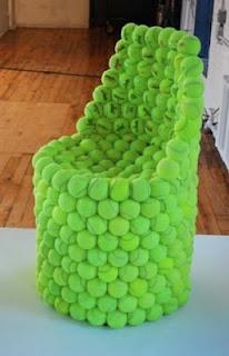 30 love...40 love...Love All about this Tennis ballsy Trash Transformation! Balls DIY Trashthetic Trash Upcycle Craft Green