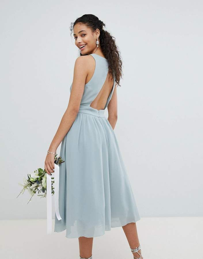 Recommend Embellished Midi Bridesmaid Dress with Full prom skirt - Vintage rose Tfnc Collections Sale Online 100% Original Sale Online 5rSj8jnqy