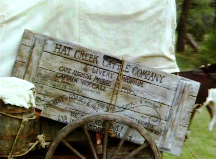 ❦I want to make an exact replica of this sign to hang in our new home. Hat Creek Cattle Company Sign from Lonesome Dove.