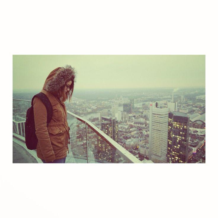 #frankfurt #city #overlook #winter #cold