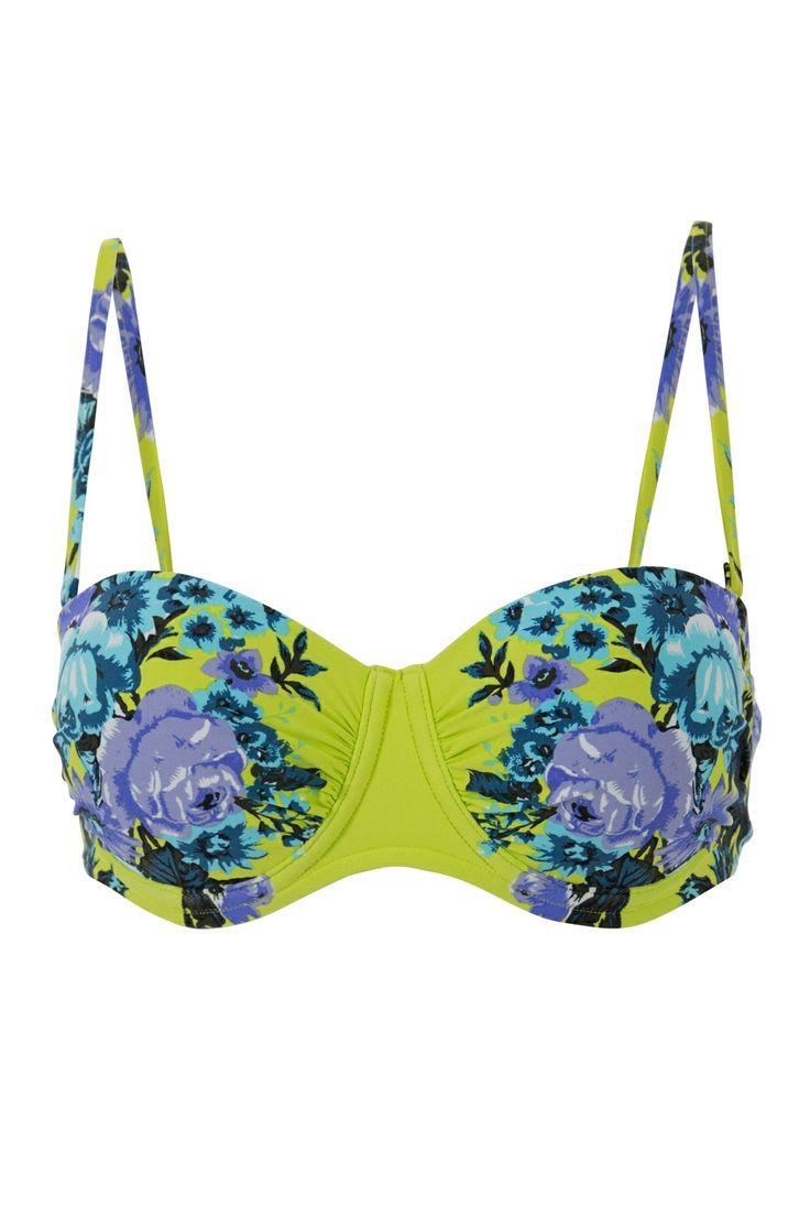 Swimwear buy online Wallpaper Rose Bustier Bra - Womens Bikinis - Birdsnest Online Fashion Store