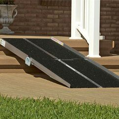 Portable ramps help make your inaccessible homes accessible for your disabled loved one!   #wheelchair #ramp