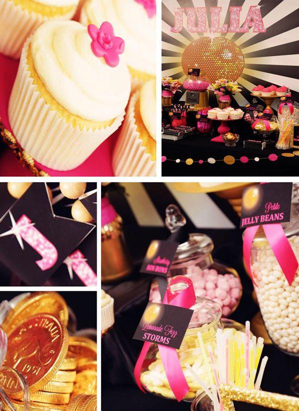 Disco Glam 12th Birthday Party via Karas Party Ideas| KarasPartyIdeas.com #disco #glam #birthday #party (25)