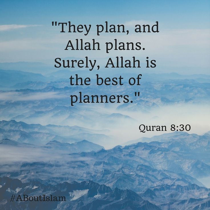 Best Islamic Quotes From Quran: Allah Is The Best Of Planners.