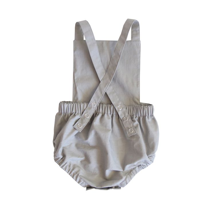 swell & solis Dune Romper - grey Ethically made baby romper / jumpsuit / onesies