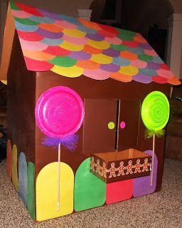 The Keeper of the Cheerios: Cardboard Gingerbread Playhouse DIY