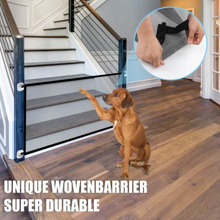 Last Day Promotion 50 Off Portable Kids Pets Safety Door Guard Meiaer In 2020 Pet Safety Gate Pet Safety Pet Barrier