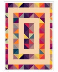 Geometric Triangles Perspective-Art Print