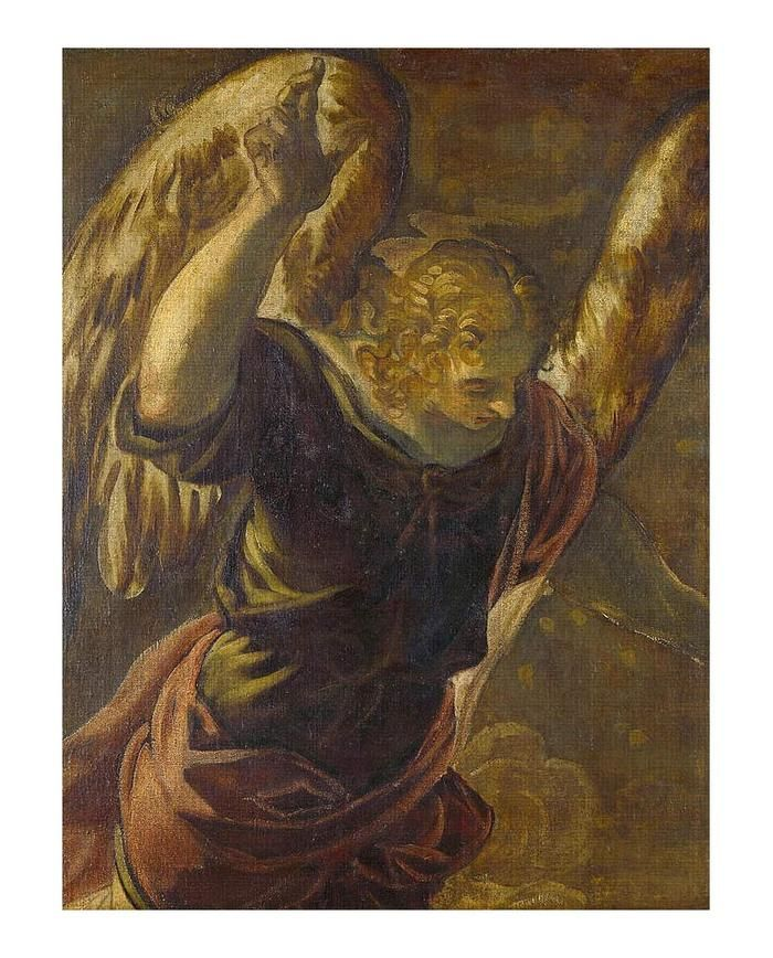 1 Angel From The Annunciation To The Virgin By Tintoretto Art