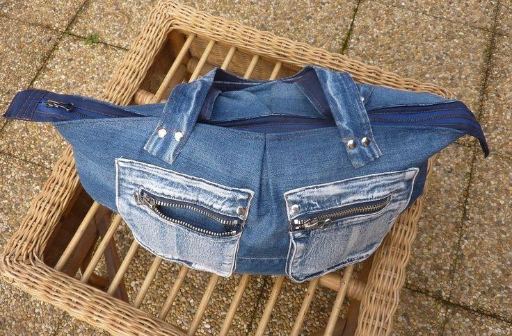 beau sac de voyage en jean modèle lafayette