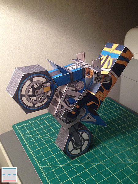 """Paper Foldables commission promoting """"Trials Fusion"""" video game..."""
