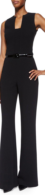 Ralph Lauren Black Label Isabella Sleeveless Self-Belt Jumpsuit