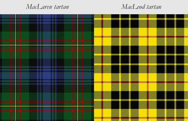 The Maclaren Modern Tartan Is A Predominantly Green And