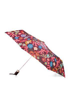 Totes Men's Fashion Automatic Umbrella - Folk Flora - One Size