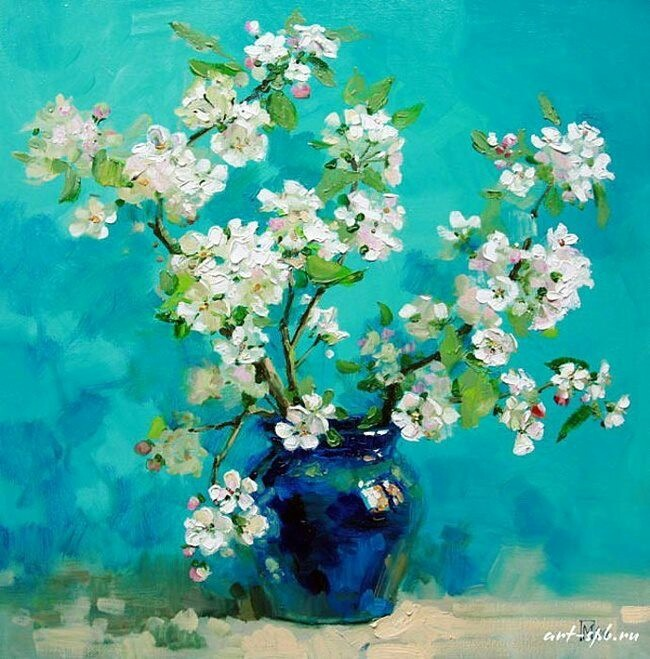 ❀ Blooming Brushwork ❀ - garden and still life flower paintings - Maria Pavlova.   Russia