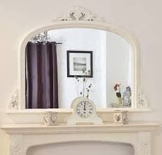 white arched overmantle mirror - Google Search