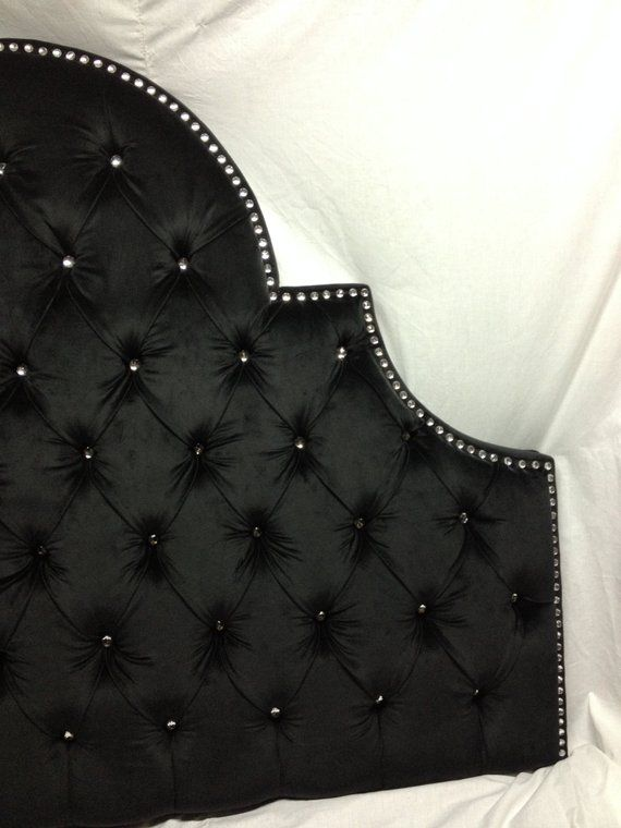 Night Sky Tufted Headboard With Rhinestones Full Size In