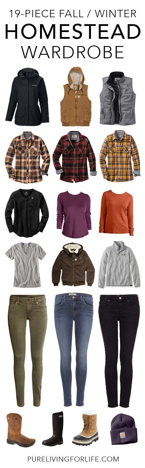 Great fall and winter wardrobe for homesteaders, farm girls or country girls!