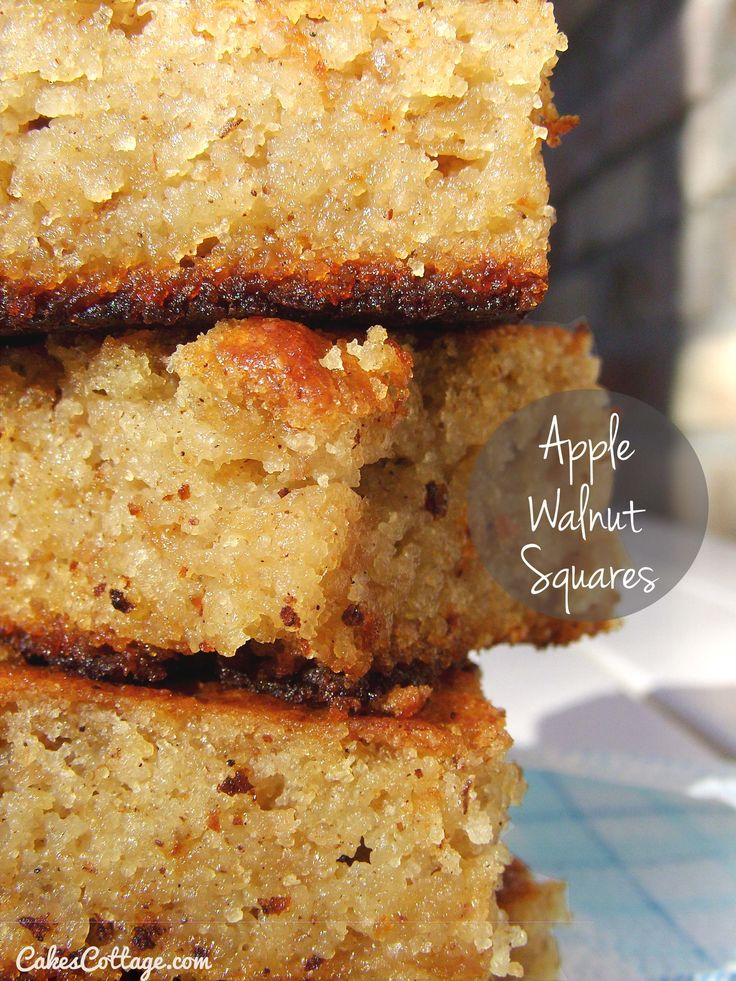 Apple Walnut Squares - a wonderful treat to put together in a hurry.