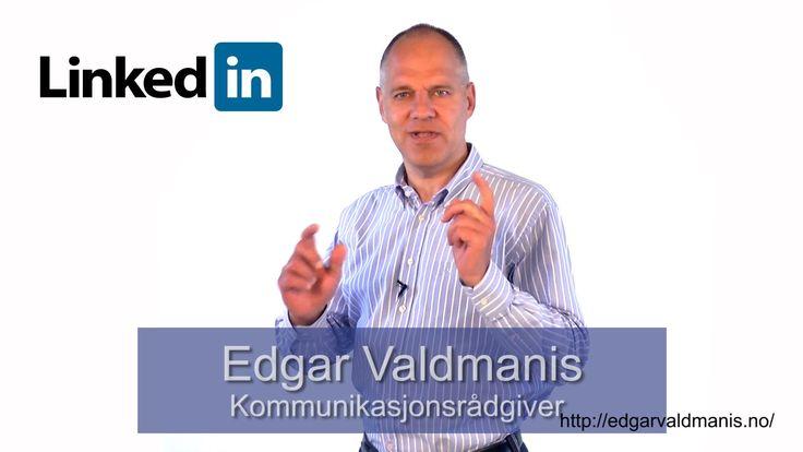 Edgar Valdmanis - få en sterkere LinkedIn-profil - VideoCard