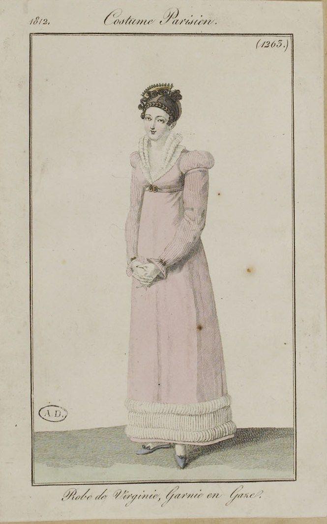 Journal des dames et des modes / Costume Parisien: 15 Octobre, 1812 (2b)