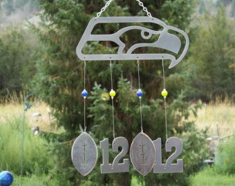 Seattle Seahawks Wind Chime - Handmade Metal Wind Chime