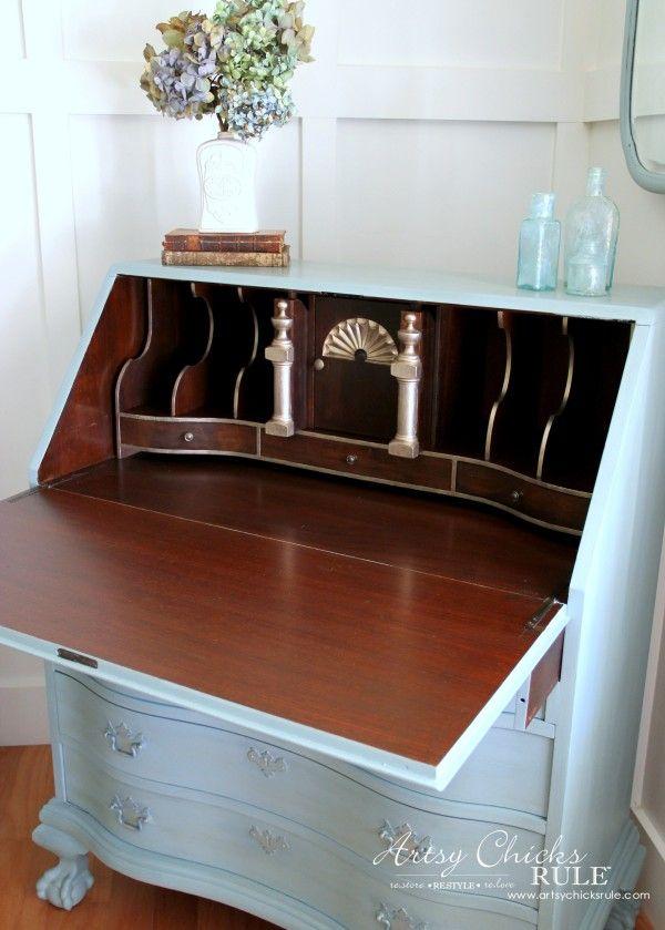 Best 20 Secretary Desks Ideas On Pinterest Painted Secretary Desks Antiqu