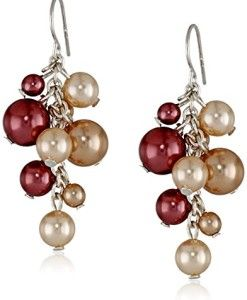 Colored-Simulated-Pearl-Cluster-Drop-Earrings-0
