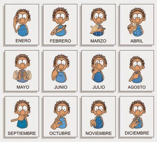 Meses del año en lenguaje de signos