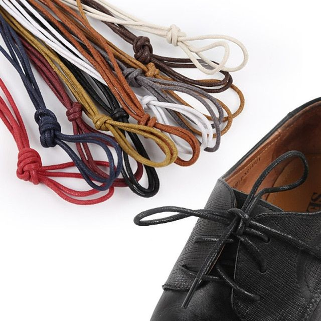 Waxed Shoe laces Leather Shoes lace ShoeLaces Martin Boots Shoelace Shoestring#