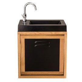 Meuble lave mains indus plan vasque lave mains seymour for Meuble lave main bois