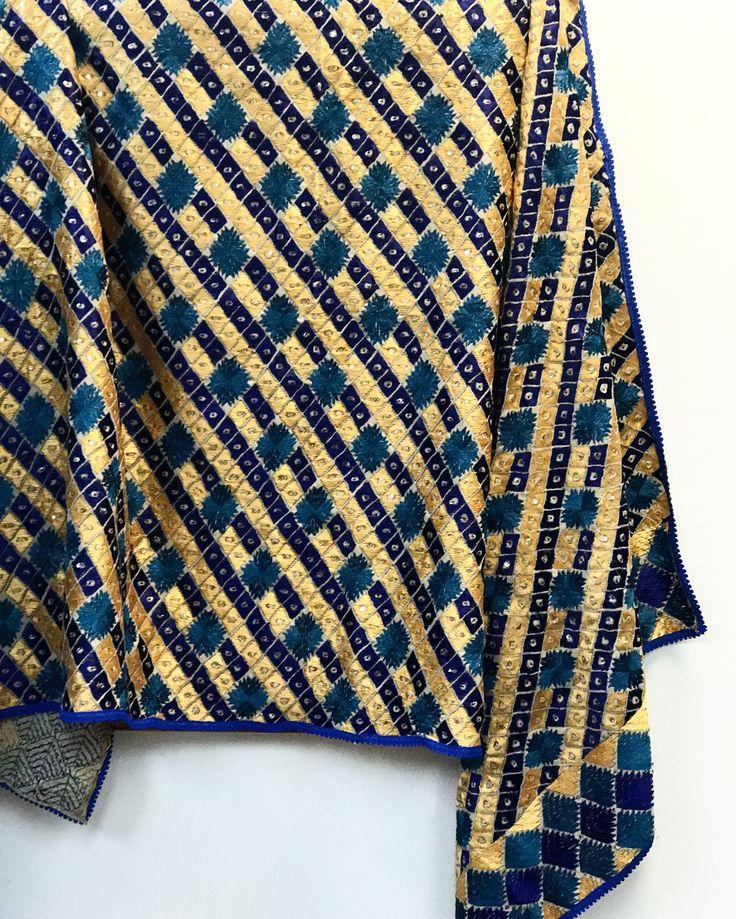 FREE SHIPPING IN USA! Buy Online Handwork Phulkari Bagh Dupatta. Ready to ship from California. To order visit www.PinkPhulkari.com